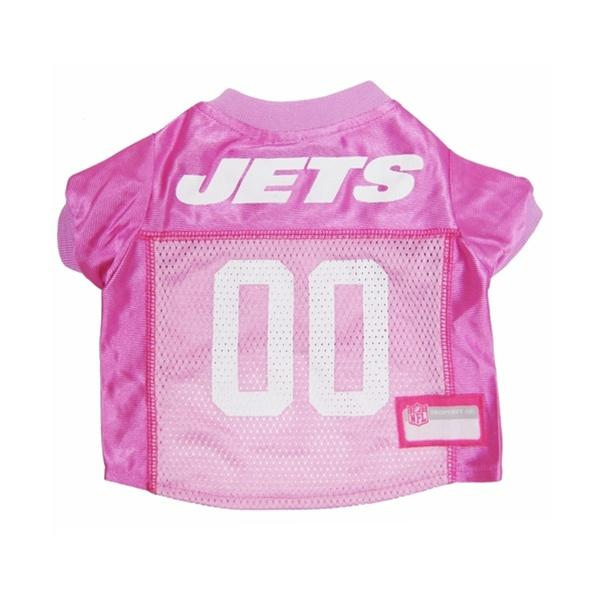 Pets First Dog-products NFL Large New York Jets Pink Dog Jersey