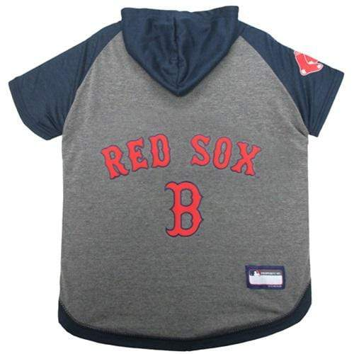 Pets First Dog-products MLB Medium Boston Red Sox Pet Hoodie T