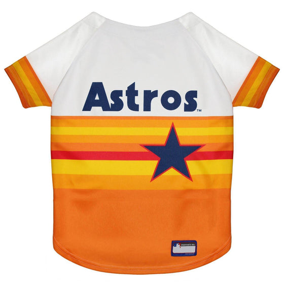 Pets First Dog-products MLB Medium Houston Astros Vintage Rainbow Pet Jersey
