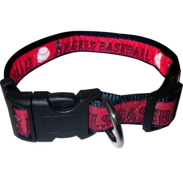 Pets First Dog-products MLB Medium Los Angeles Angels Pet Collar By Pets First