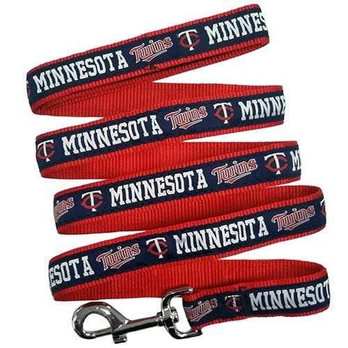 Pets First Dog-products MLB Medium Minnesota Twins Blue Pet Leash By Pets First