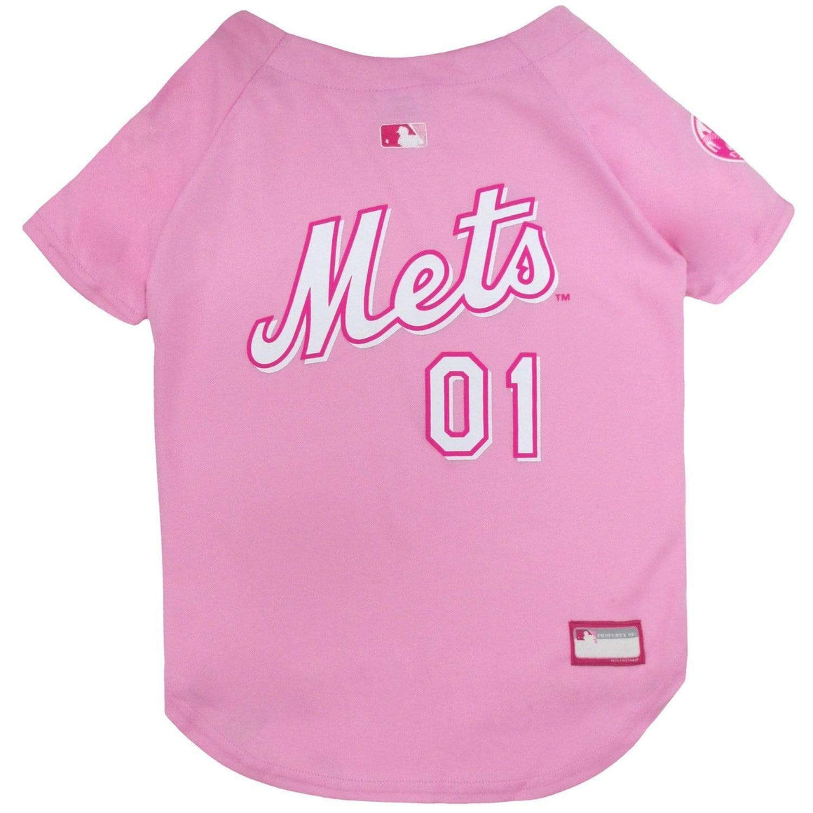 Pets First Dog-products MLB Medium New York Mets Pet Pink Jersey