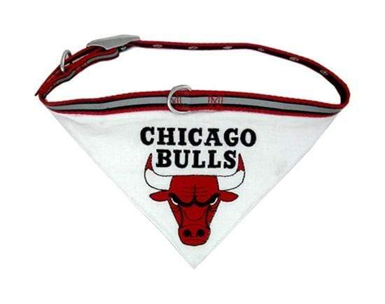 Pets First Dog-products NBA Medium Chicago Bulls Dog Collar Bandana