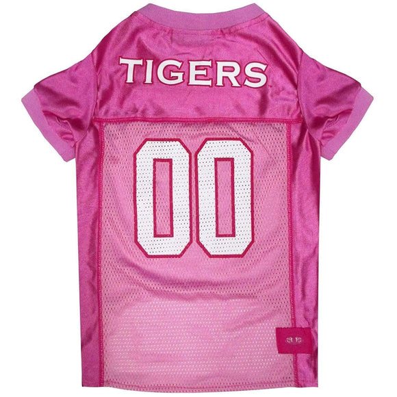 Pets First Dog-products NCAA Medium Auburn Tigers Pink Pet Jersey