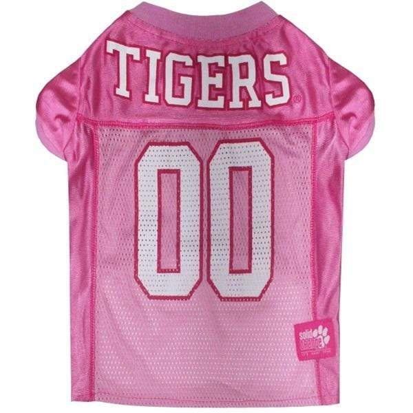 Pets First Dog-products NCAA Medium Clemson Tigers Pink Pet Jersey