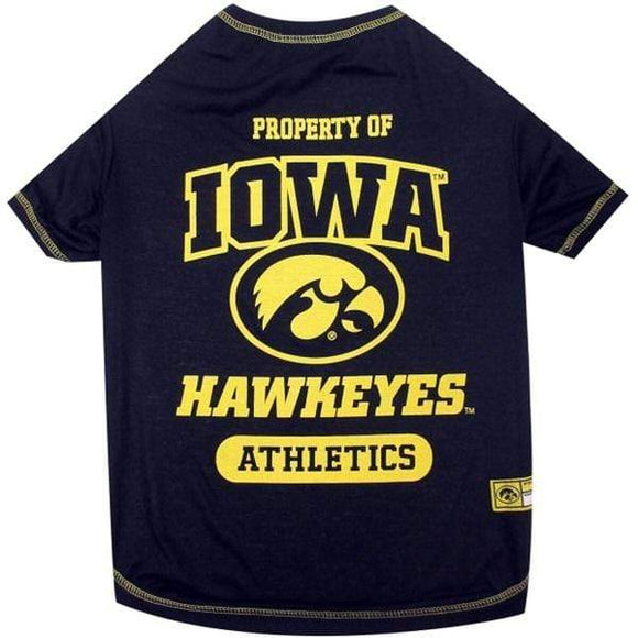 Pets First Dog-products NCAA Medium Iowa Hawkeyes Pet Tee Shirt