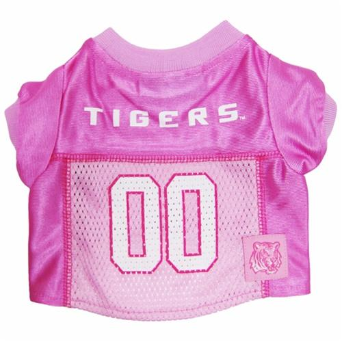 Pets First Dog-products NCAA Medium Lsu Tigers Pink Dog Jersey