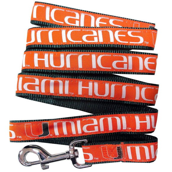 Pets First Dog-products NCAA Medium Miami Hurricanes Pet Leash By Pets First