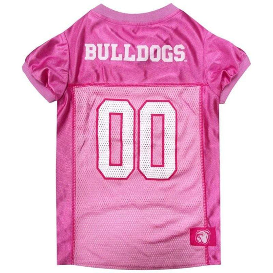 Pets First Dog-products NCAA Medium Mississippi State Bulldogs Pink Pet Jersey