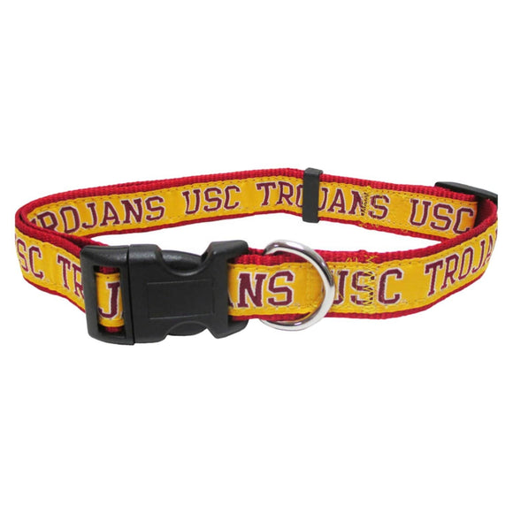 Pets First Dog-products NCAA Medium Usc Trojans Pet Collar By Pets First
