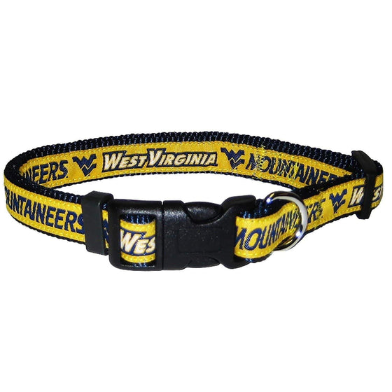 Pets First Dog-products NCAA Medium West Virginia Mountaineers Pet Collar By Pets First