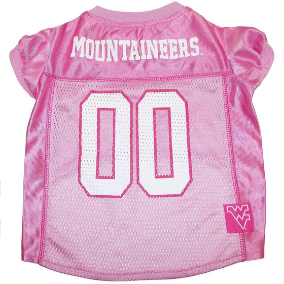 Pets First Dog-products NCAA Medium West Virginia Mountaineers Pink Pet Jersey