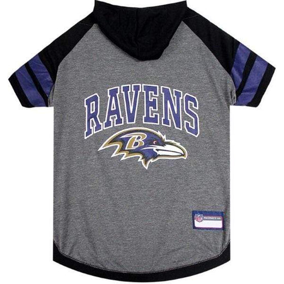 Pets First Dog-products NFL Medium Baltimore Ravens Pet Hoodie T