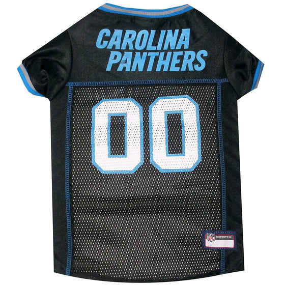 Pets First Dog-products NFL Medium Carolina Panthers Dog Jersey