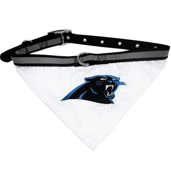 Pets First Dog-products NFL Medium Carolina Panthers Pet Collar Bandana
