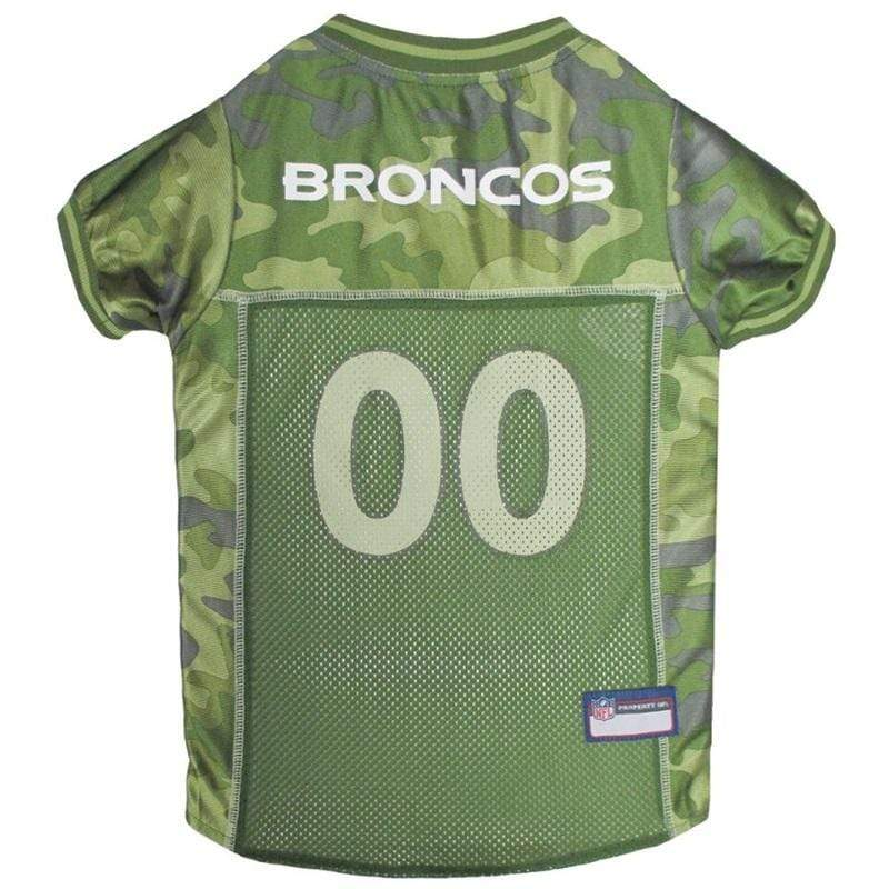 Pets First Dog-products NFL Medium Denver Broncos Pet Camo Jersey