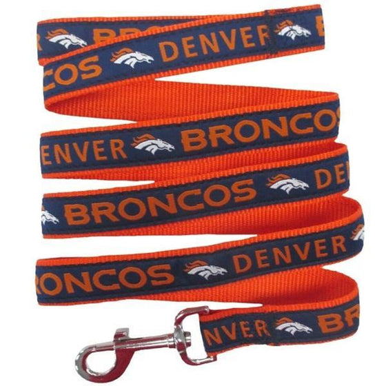 Pets First Dog-products NFL Medium Denver Broncos Pet Leash By Pets First