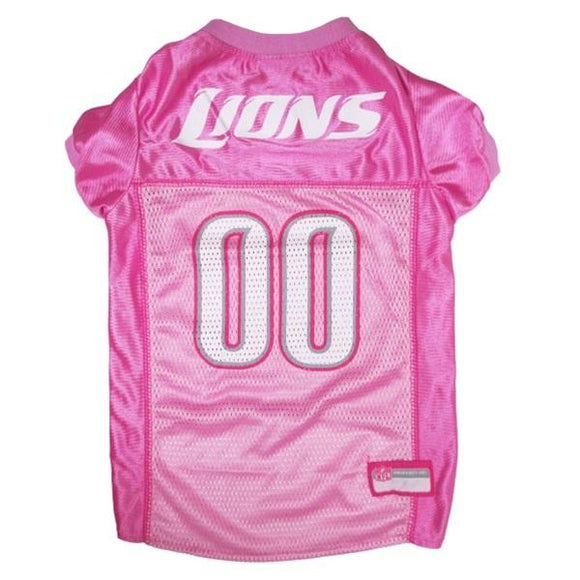 Pets First Dog-products NFL Medium Detroit Lions Pink Pet Jersey