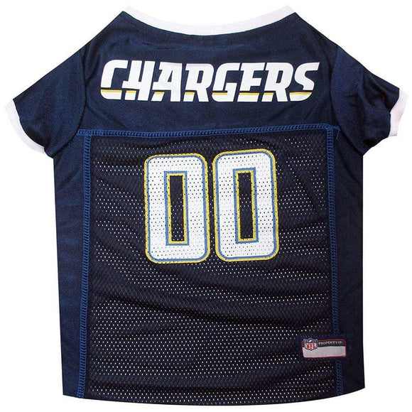 Pets First Dog-products NFL Medium Los Angeles Chargers Dog Jersey
