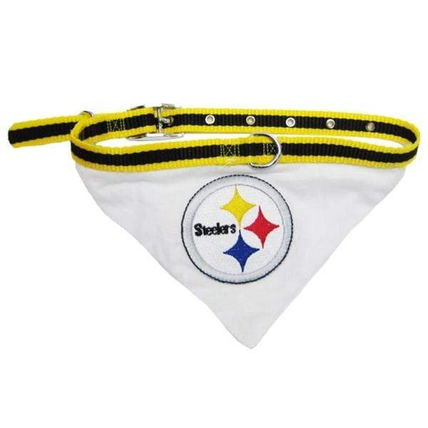 Pets First Dog-products NFL Medium Pittsburgh Steelers Dog Collar Bandana
