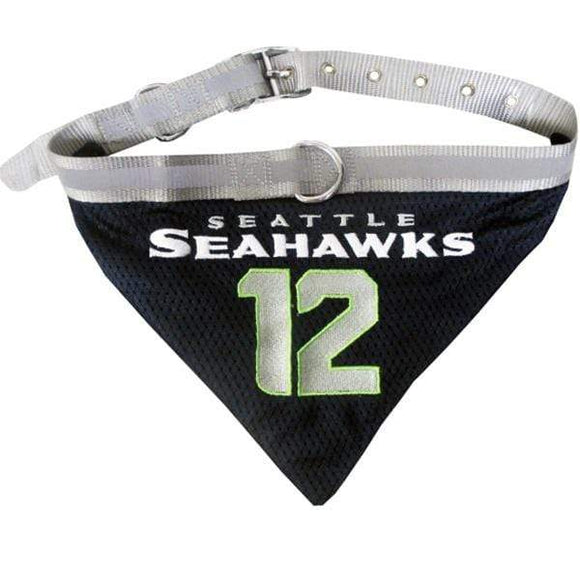 "Pets First Dog-products NFL Medium Seattle Seahawks ""12th Man"" Pet Collar Bandana"