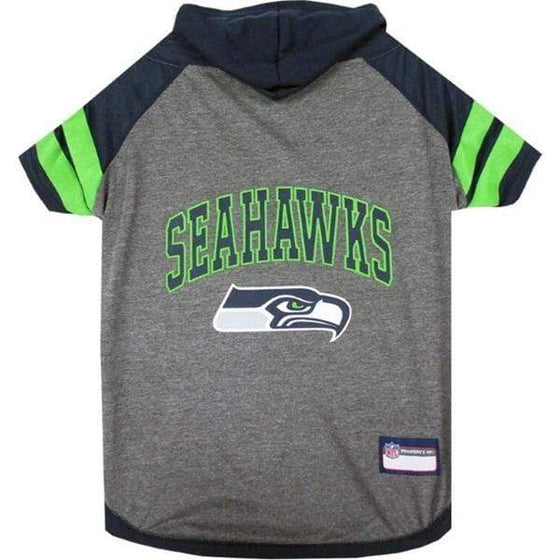 Pets First Dog-products NFL Medium Seattle Seahawks Pet Hoodie T