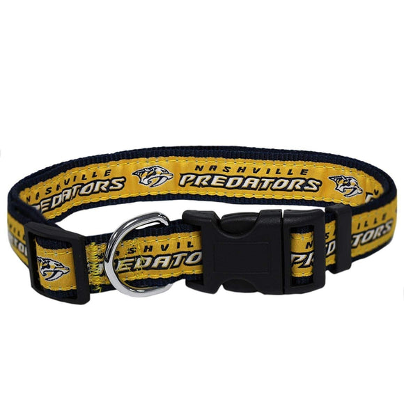 Pets First Dog-products NHL Medium Nashville Predators Pet Collar By Pets First