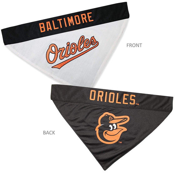 Pets First Dog-products MLB S/M Baltimore Orioles Pet Reversible Bandana