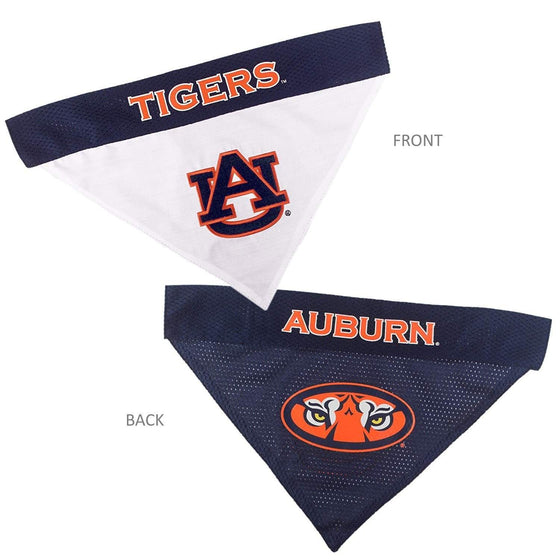 Pets First Dog-products NCAA S/M Auburn Tigers Pet Reversible Bandana
