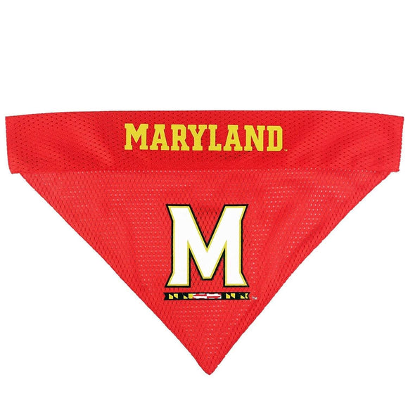 Pets First Dog-products NCAA S/M Maryland Terrapins Pet Reversible Bandana