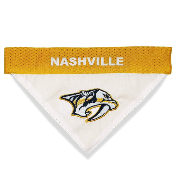 Pets First Dog-products NHL S/M Nashville Predators Pet Reversible Bandana