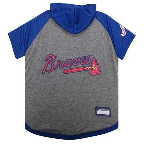 Pets First Dog-products MLB Small Atlanta Braves Pet Hoodie T