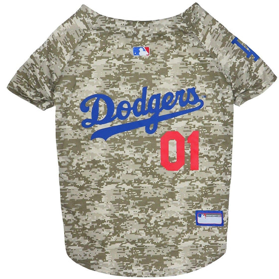 Pets First Dog-products MLB Small Los Angeles Dodgers Pet Camo Jersey
