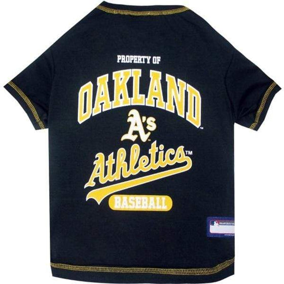 Pets First Dog-products MLB Small Oakland A's Green Pet T