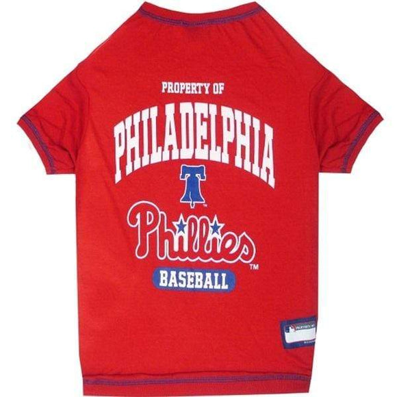 Pets First Dog-products MLB Small Philadelphia Phillies Pet T