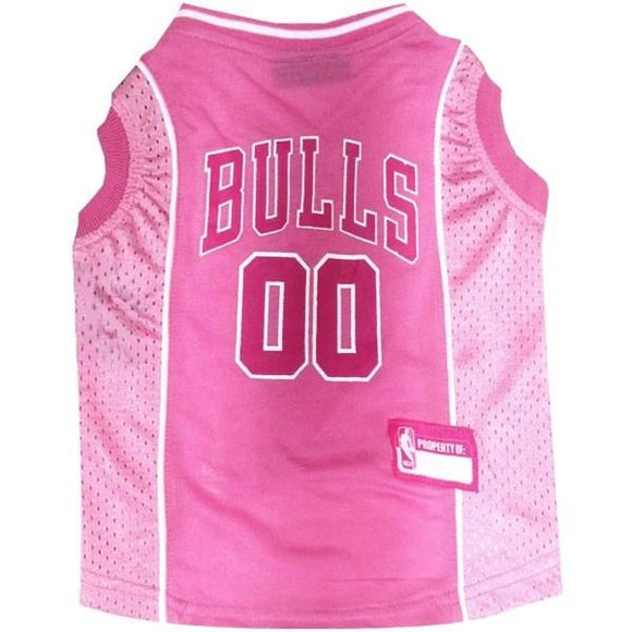 Pets First Dog-products NBA Small Chicago Bulls Pink Pet Jersey