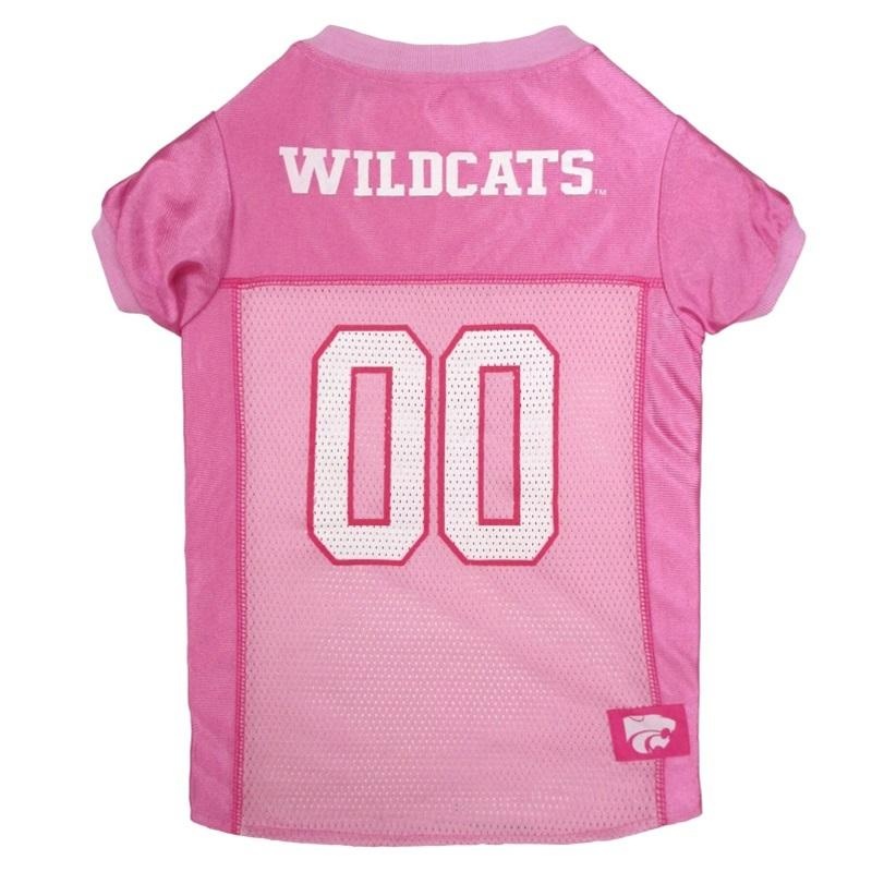 Pets First Dog-products NCAA Small Kansas State Wildcats Pink Pet Jersey