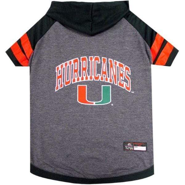 Pets First Dog-products NCAA Small Miami Hurricanes Pet Hoodie T