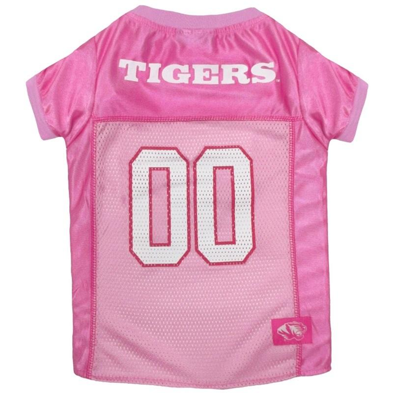 Pets First Dog-products NCAA Small Missouri Tigers Pink Pet Jersey