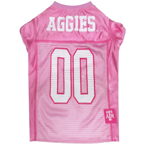 Pets First Dog-products NCAA Small Texas A&m Aggies Pink Pet Jersey
