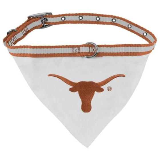 Pets First Dog-products NCAA Small Texas Longhorns Dog Collar Bandana