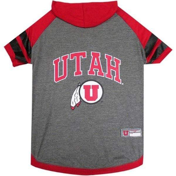 Pets First Dog-products NCAA Small Utah Utes Pet Hoodie T
