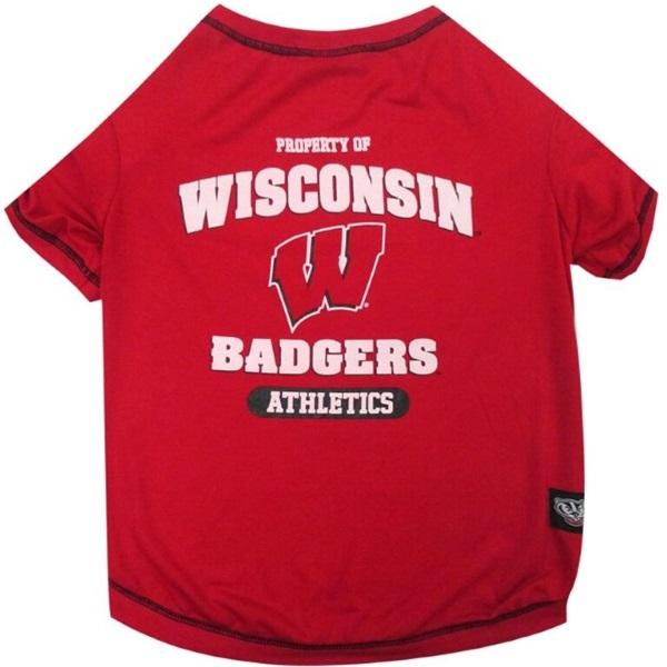 Pets First Dog-products NCAA Small Wisconsin Badgers Pet Tee Shirt