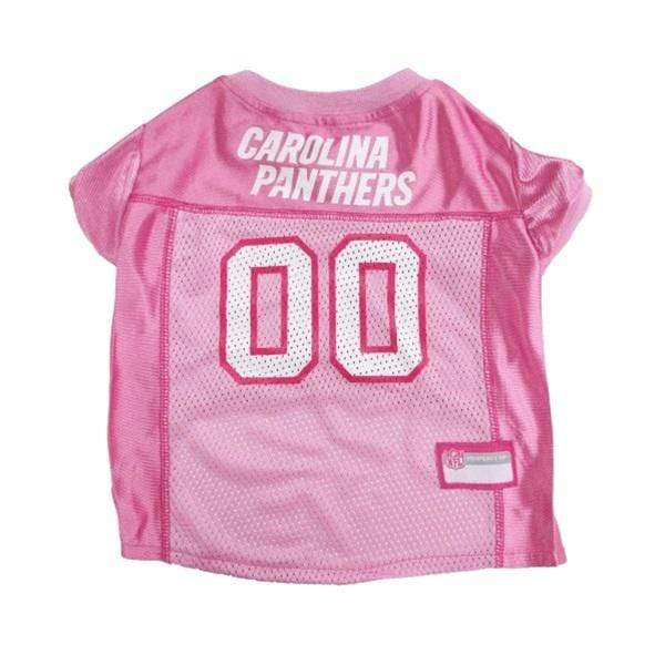 Pets First Dog-products NFL Small Carolina Panthers Pink Pet Jersey
