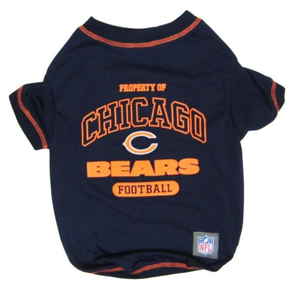 Pets First Dog-products NFL Small Chicago Bears Dog T