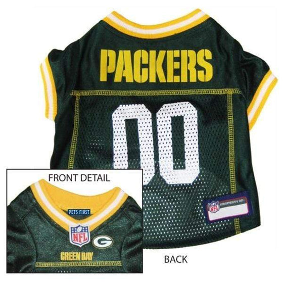 Pets First Dog-products NFL Small Green Bay Packers Dog Jersey