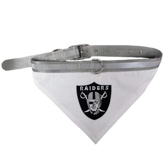 Pets First Dog-products NFL Small Oakland Raiders Pet Collar Bandana