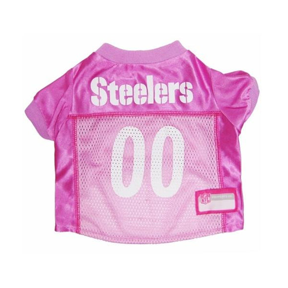 Pets First Dog-products NFL Small Pittsburgh Steelers Pink Dog Jersey