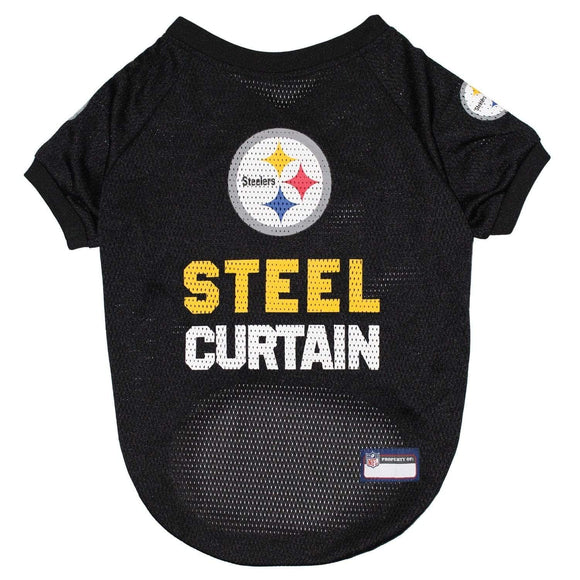Pets First Dog-products NFL Small Pittsburgh Steelers Steel Curtain Pet Jersey