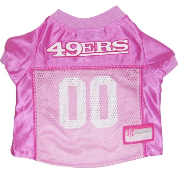 Pets First Dog-products NFL Small San Francisco 49ers Pink Dog Jersey